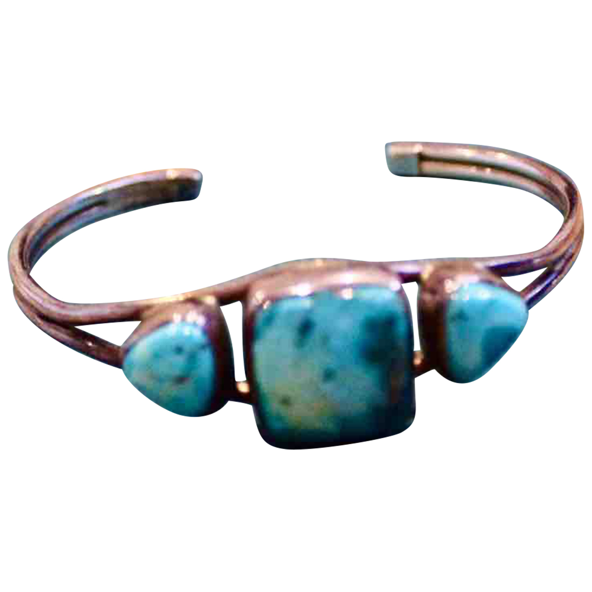 Non Signe / Unsigned Turquoises Armband in  Silber Silber