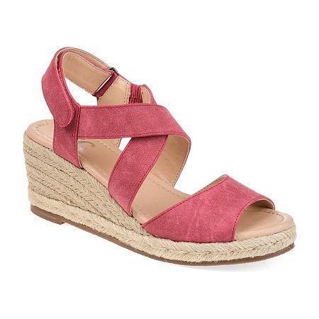 Journee Collection Womens Spencer Pumps Wedge Heel, 8 Medium, Pink