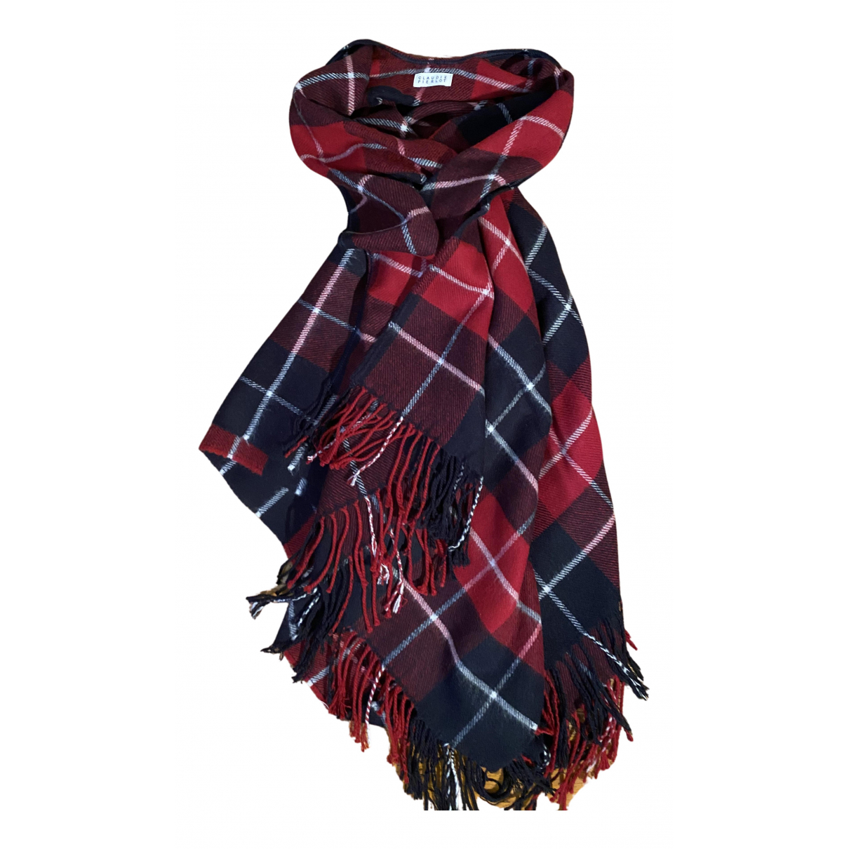 Claudie Pierlot - Foulard   pour femme en laine - rouge