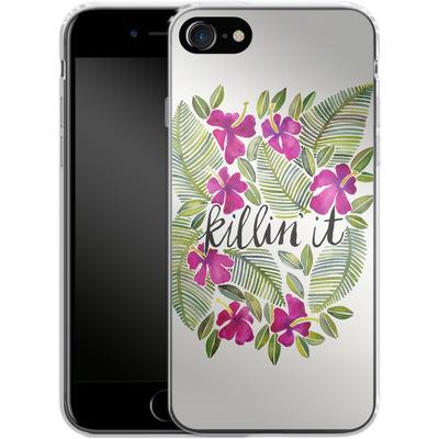 Apple iPhone 7 Silikon Handyhuelle - Killin It Pink von Cat Coquillette