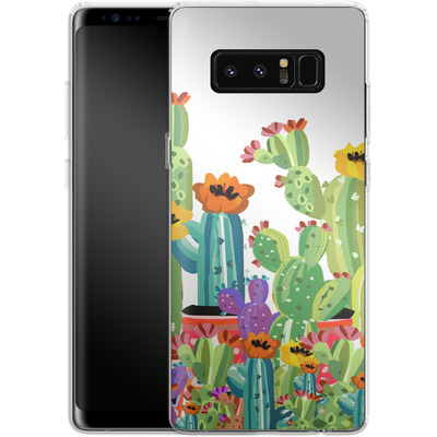 Samsung Galaxy Note 8 Silikon Handyhuelle - Cacti Land von Mukta Lata Barua