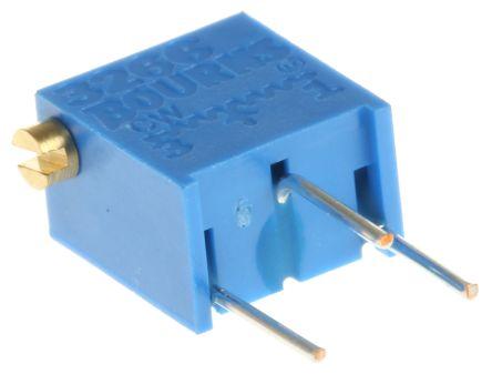 Bourns 5kΩ, Through Hole Trimmer Potentiometer 0.25W Side Adjust , 3266