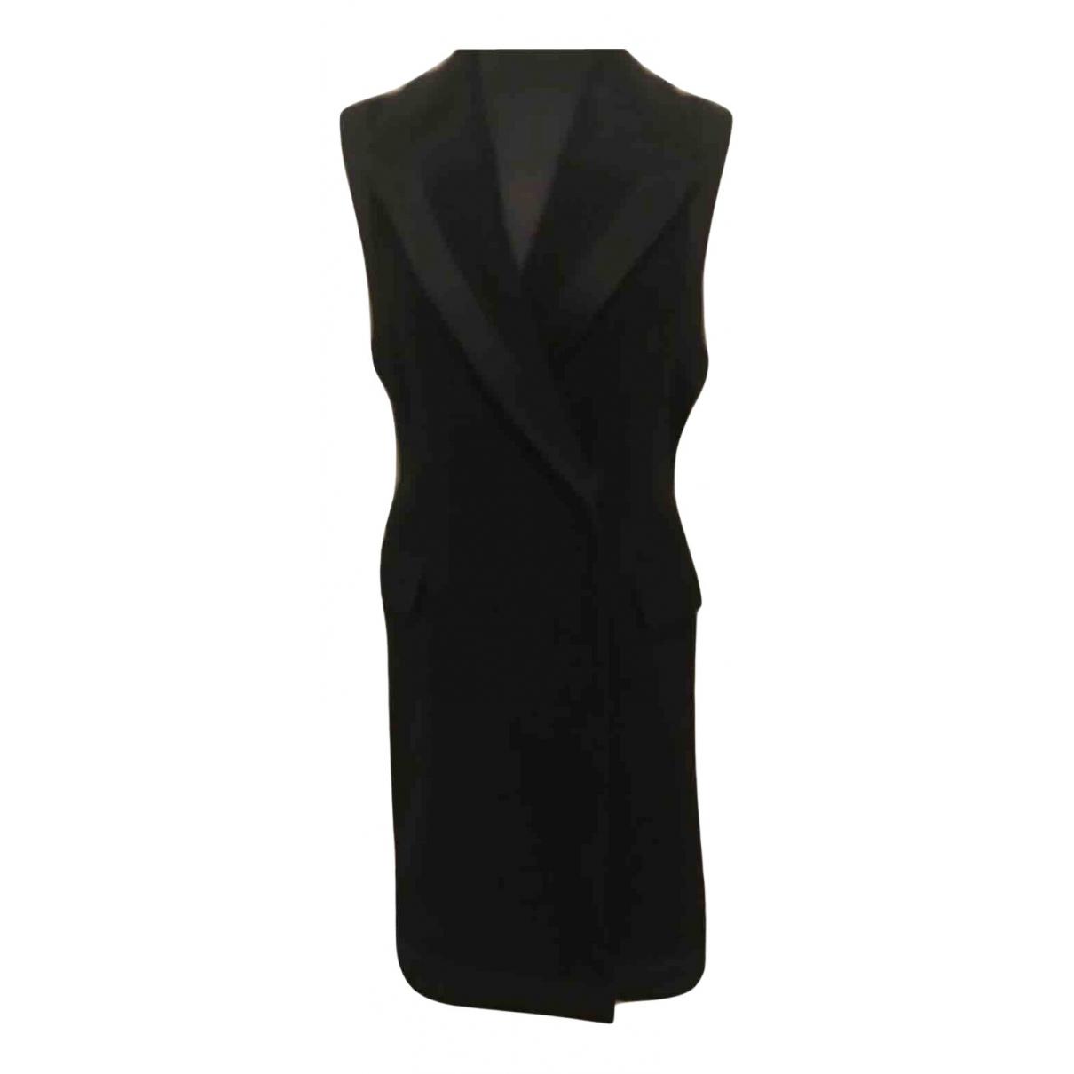 Bcbg Max Azria N Black Wool dress for Women 2 US