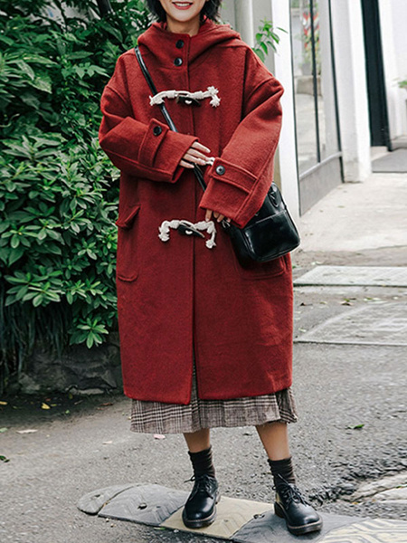 Milanoo Abrigo rojo Lolita Duffle Coats Abrigo Lolita Outwears