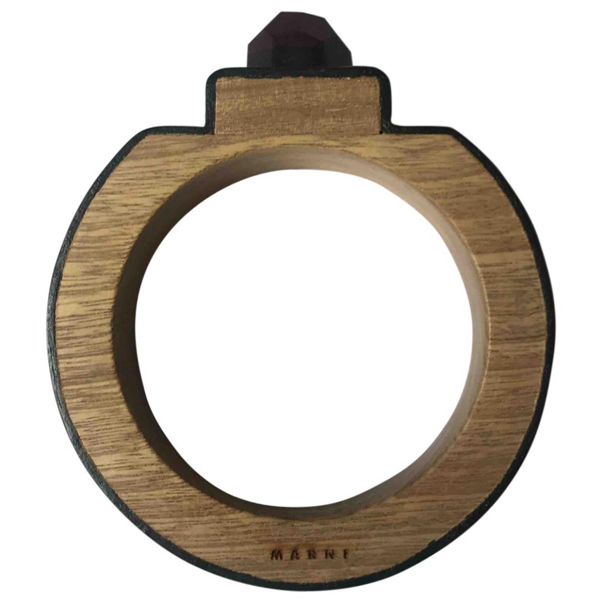 Marni - Bracelet   pour femme en bois - noir