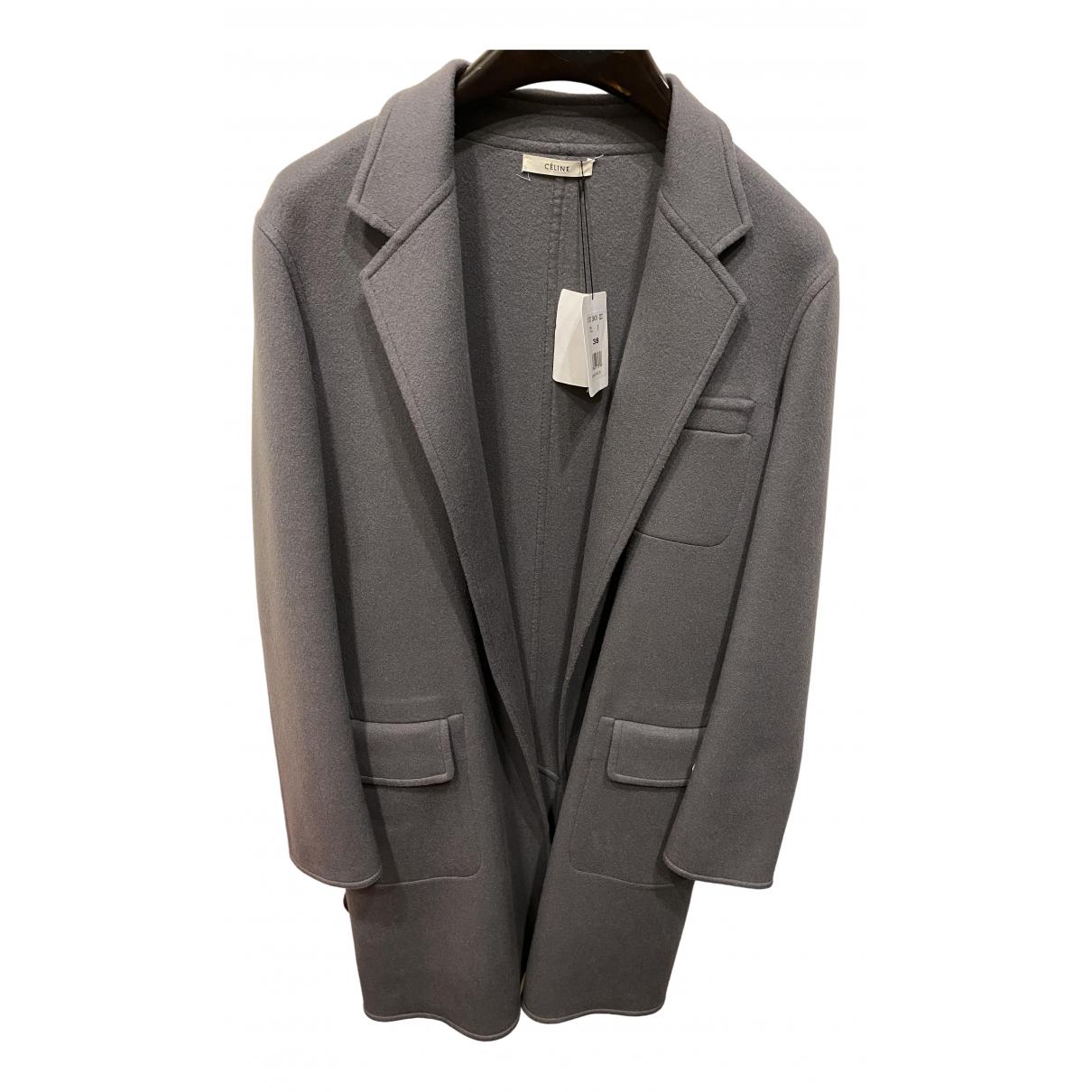 Celine \N Grey Cashmere coat for Women 38 FR