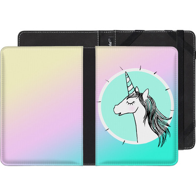 Pocketbook Touch Lux 2 eBook Reader Huelle - Happiness Unicorn von caseable Designs