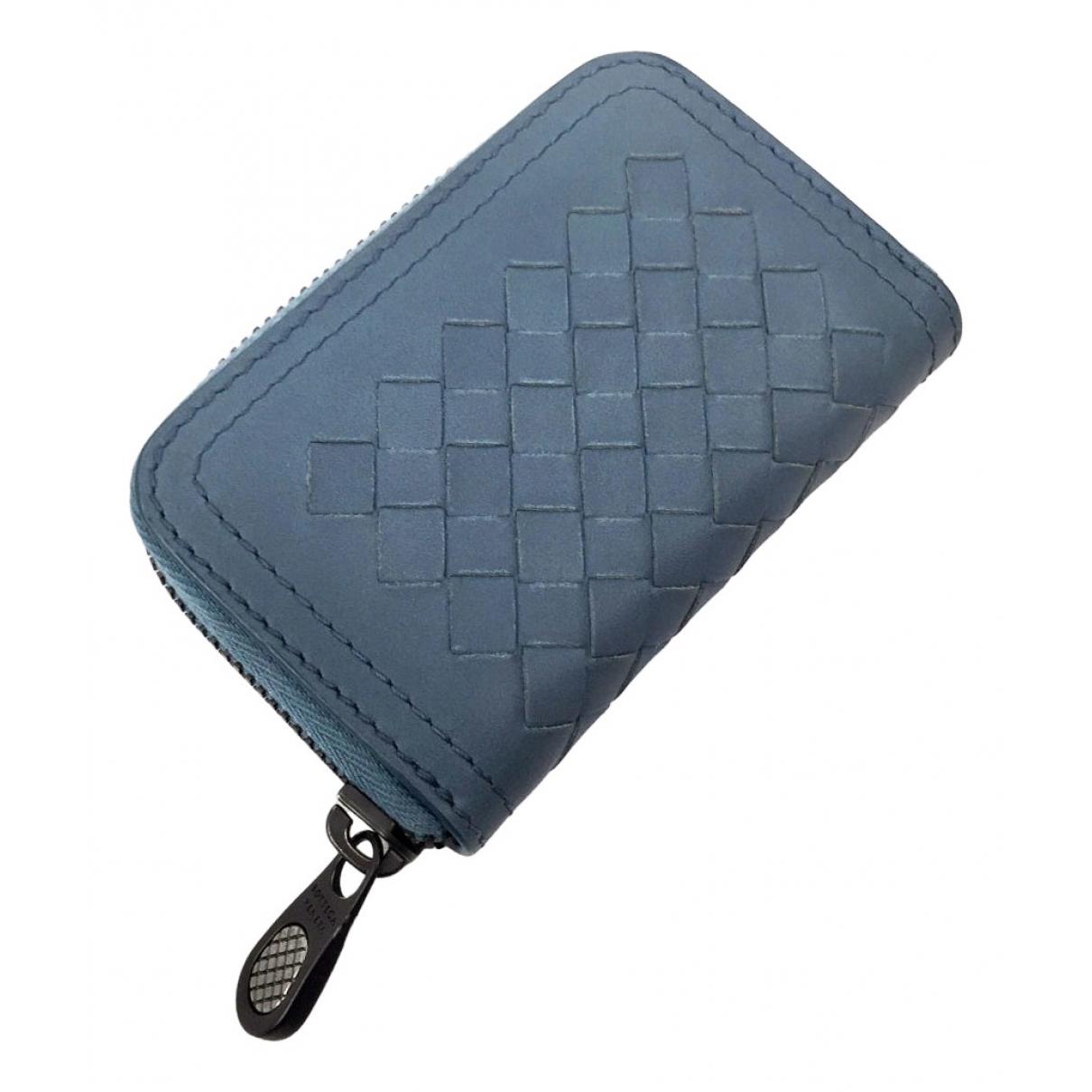 Bottega Veneta Intrecciato Blue Leather wallet for Women N
