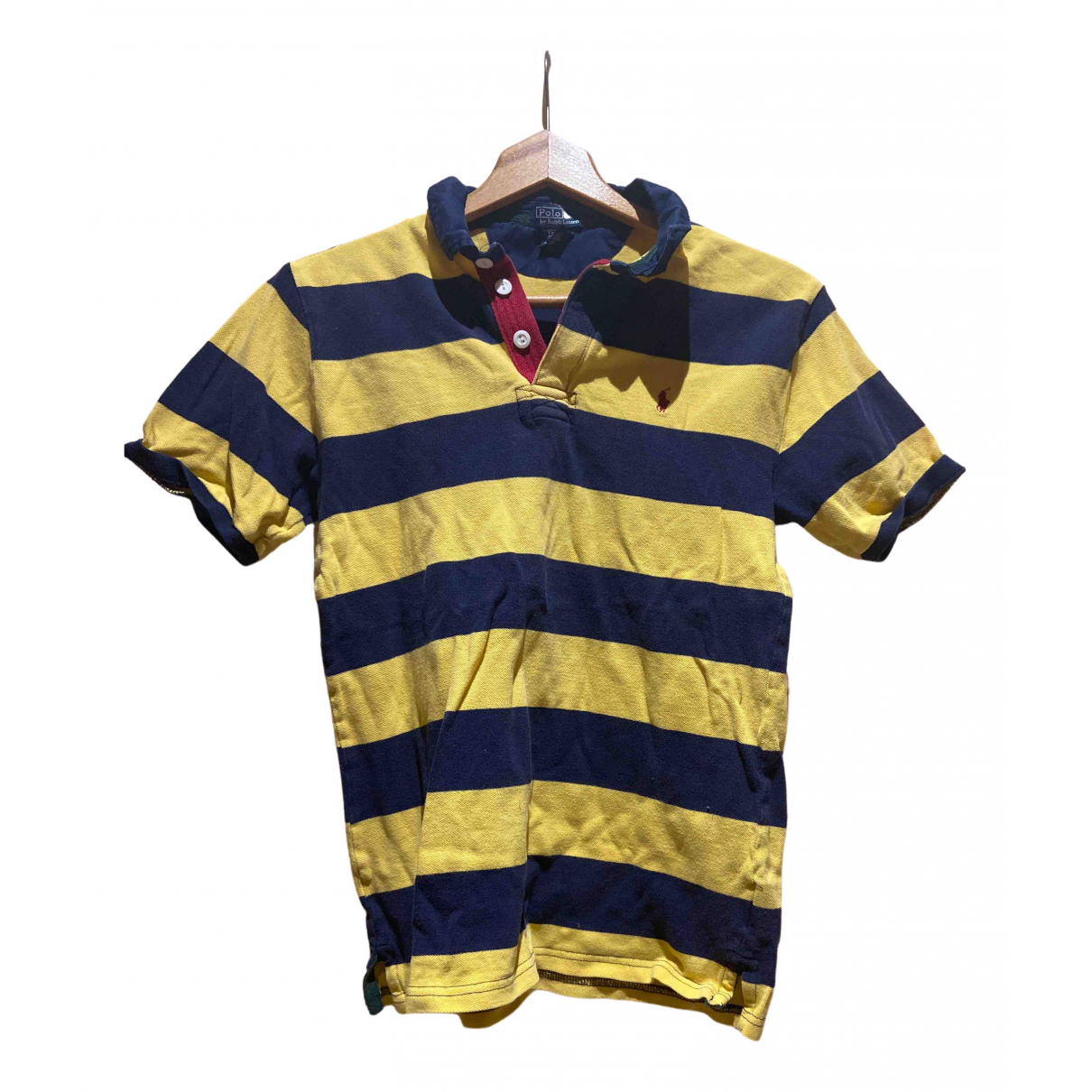Polo Ralph Lauren Polo ajuste manches courtes Poloshirts in  Gelb Baumwolle