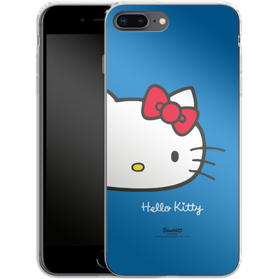 Apple iPhone 8 Plus Silikon Handyhuelle - Hello Kitty Closeup von Hello Kitty