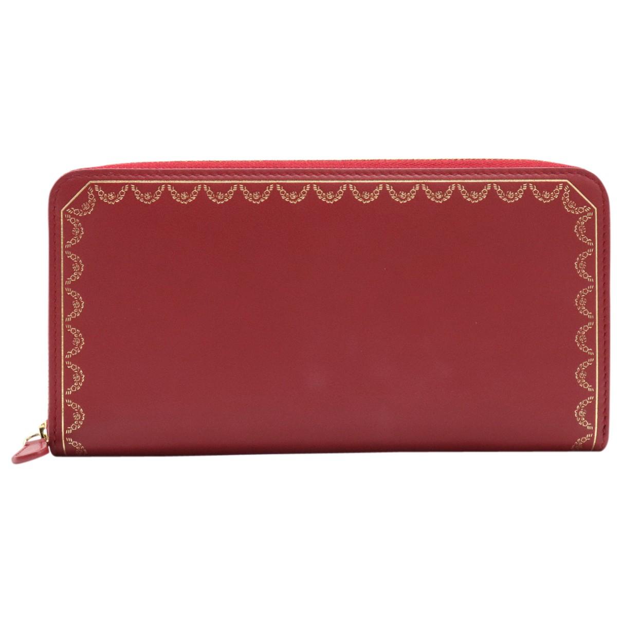 Cartier \N Portemonnaie in  Rot Leder