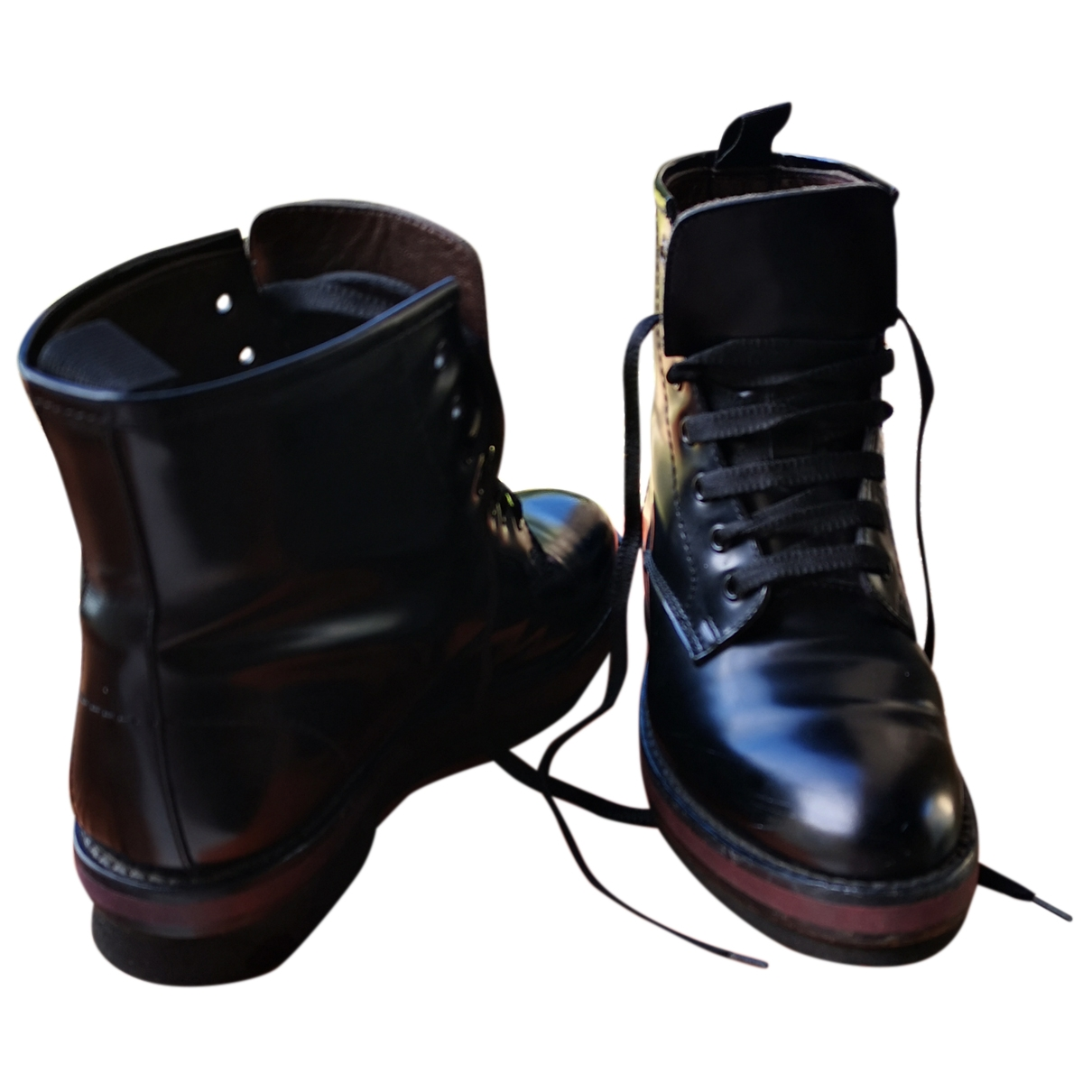 Agl \N Black Patent leather Ankle boots for Women 35 EU