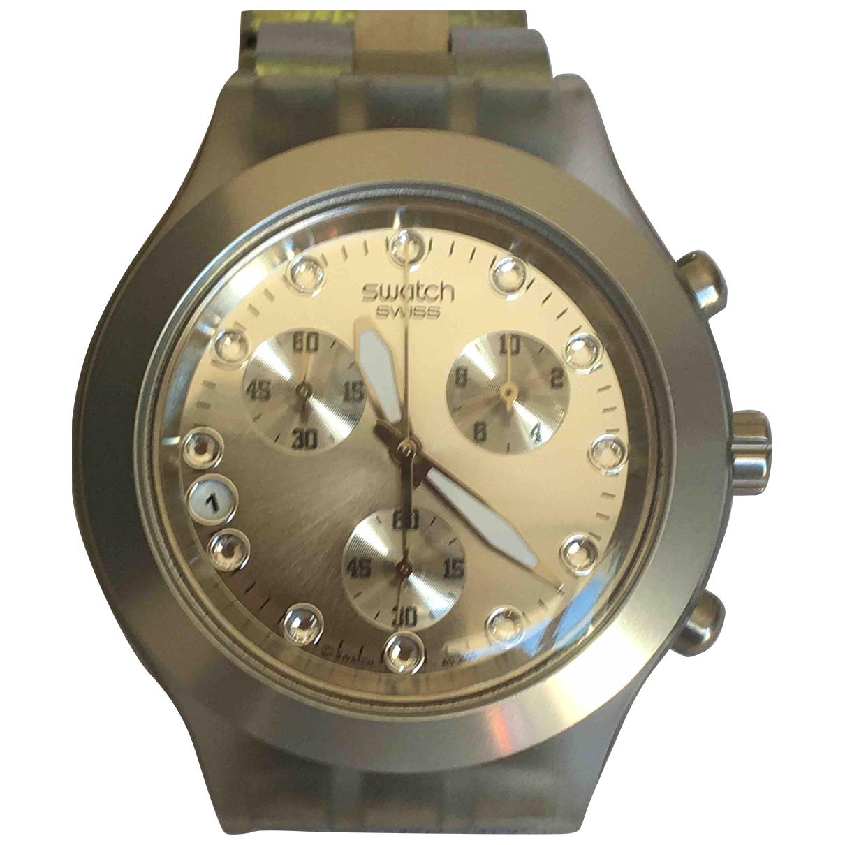Swatch - Montre   pour homme en acier - argente