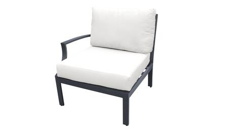 TKC067b-RAS-WHITE Right Arm Chair - Ash and White