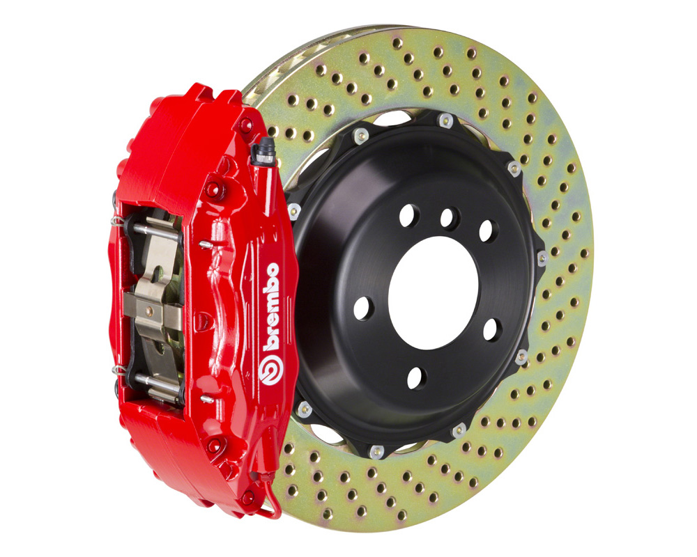 Brembo GT 355x32 2-Piece 4 Piston Red Drilled Front Big Brake Kit