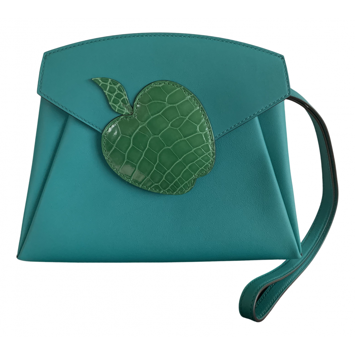 Hermès N Blue Leather Clutch bag for Women N