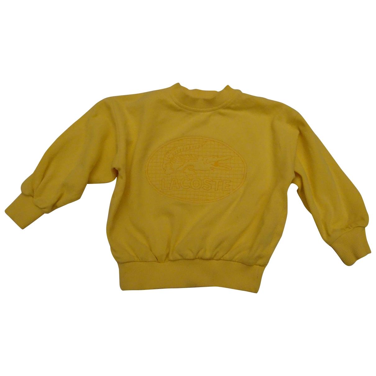 Lacoste - Top   pour enfant en coton - jaune