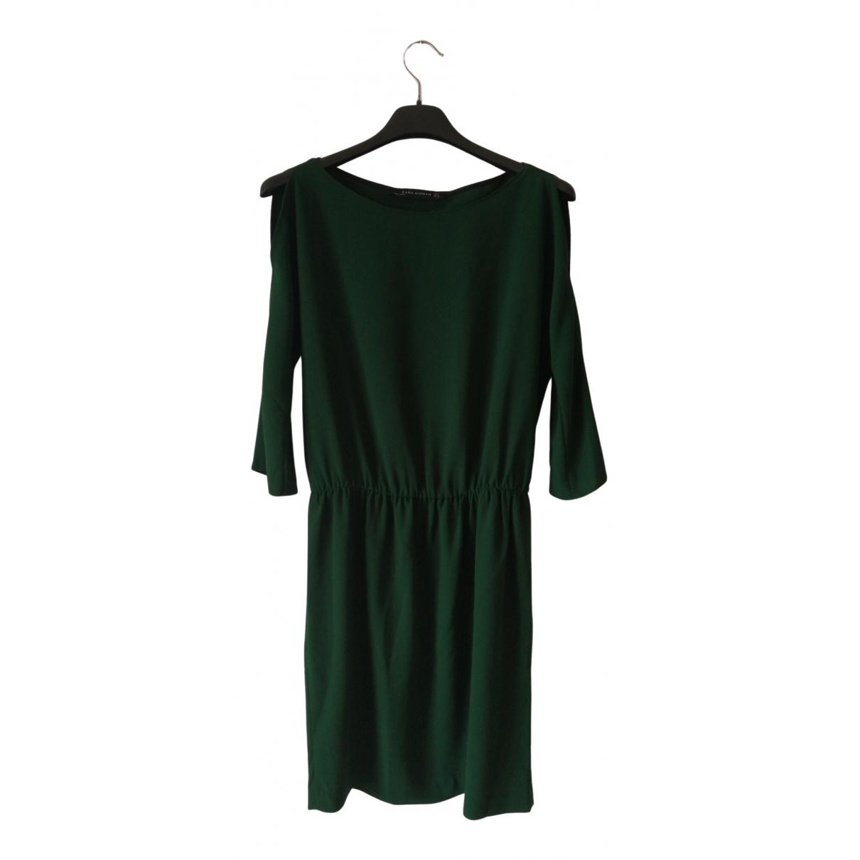 Zara \N Kleid in  Gruen Polyester