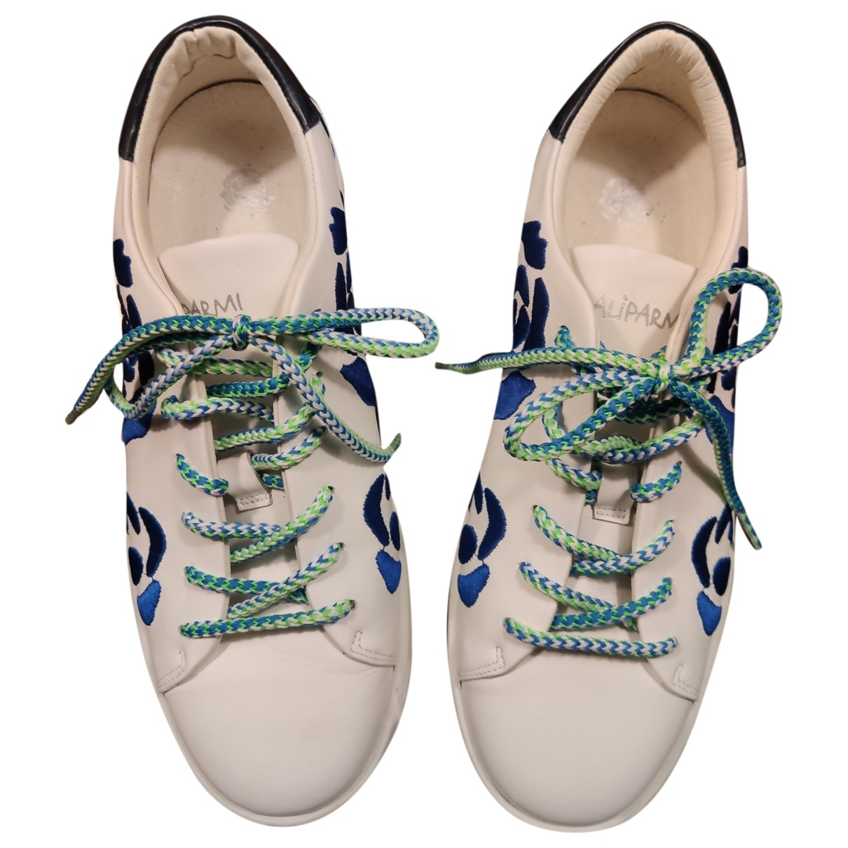 Maliparmi \N White Cloth Trainers for Women 38 EU