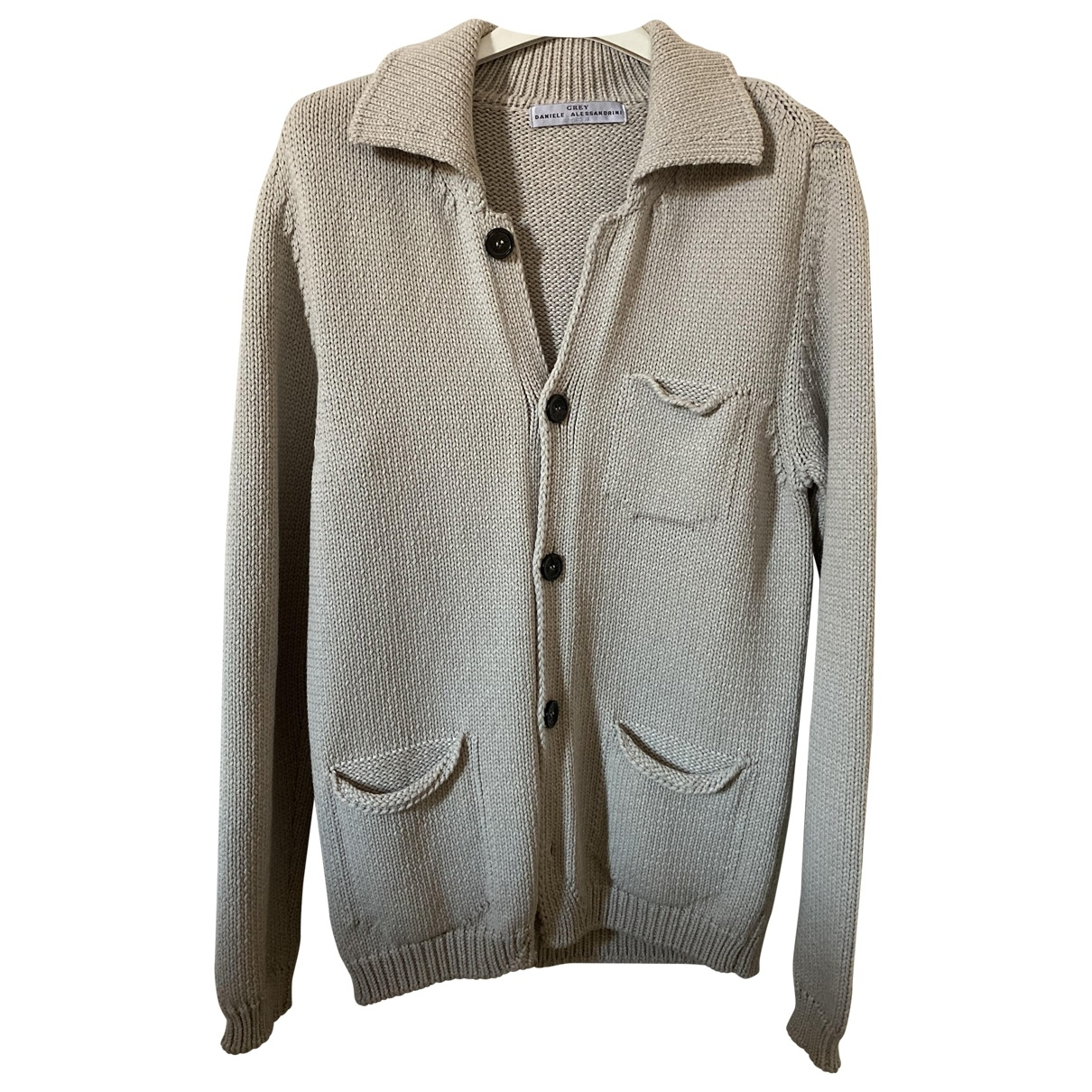 Daniele Alessandrini \N Beige Cotton Knitwear & Sweatshirts for Men 46 IT