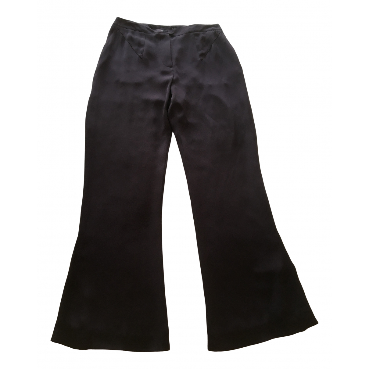 Chanel \N Burgundy Silk Trousers for Women 42 FR