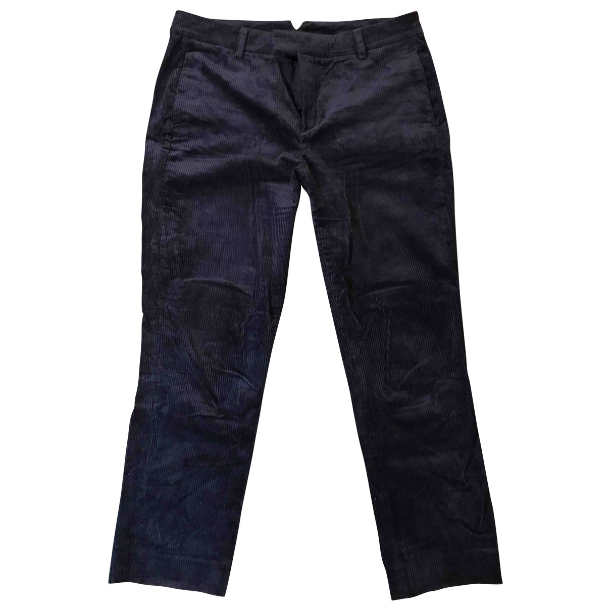 Massimo Dutti \N Navy Cotton Trousers for Women 8 US