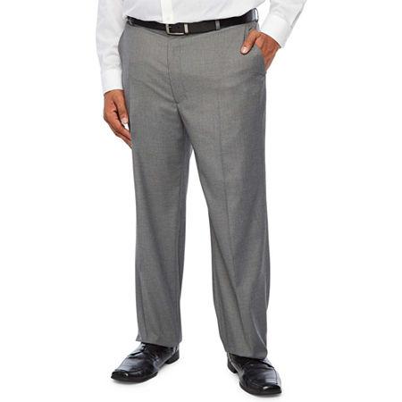 JF J.Ferrar Ultra Comfort Medium Gray Big & Tall Suit Pants, 54 32, Gray