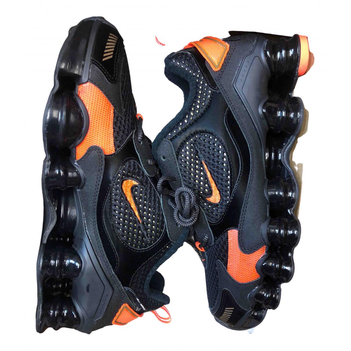 Nike - Baskets Shox pour homme en toile - noir