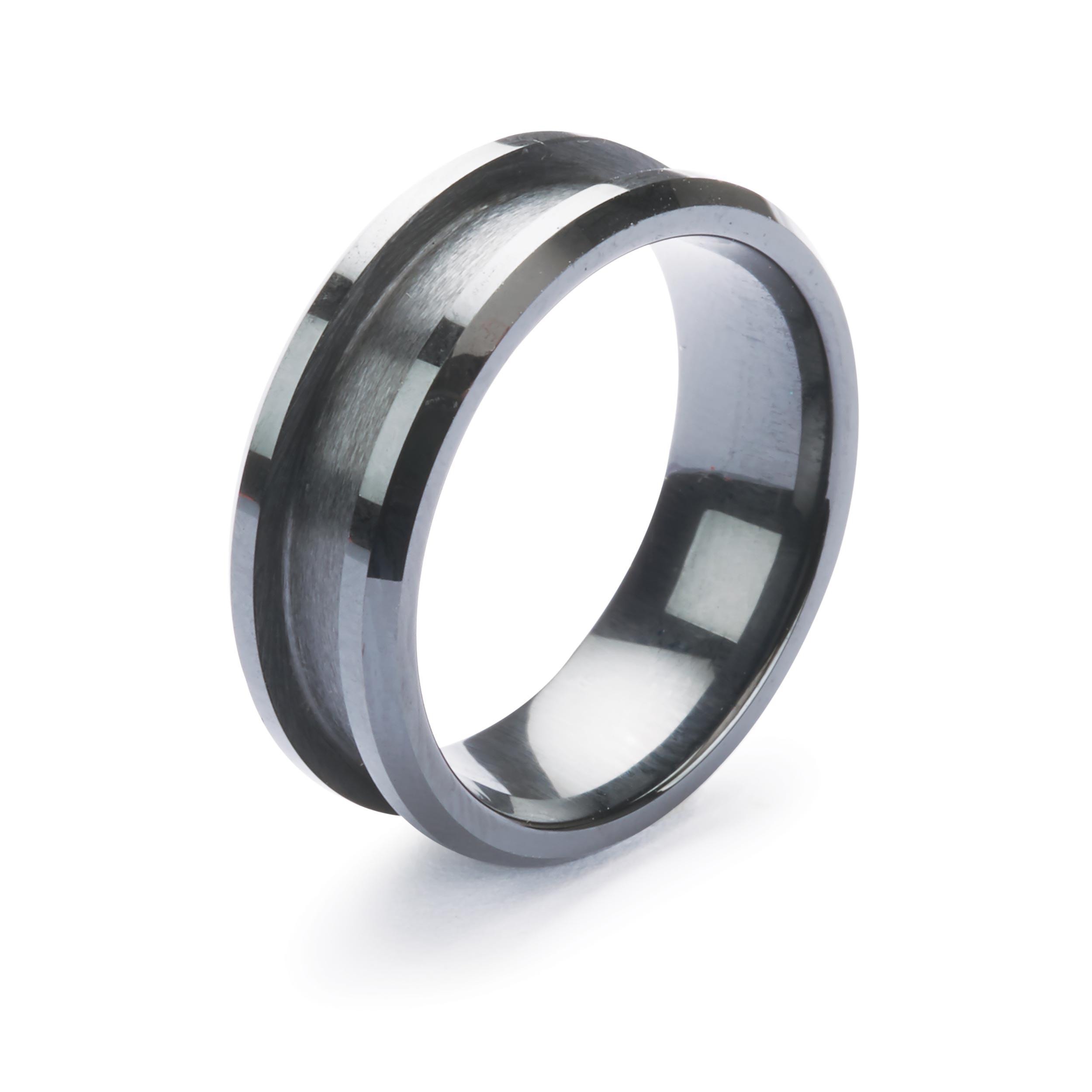 Comfort Ring Core - Black Ceramic - 8mm, Size 9