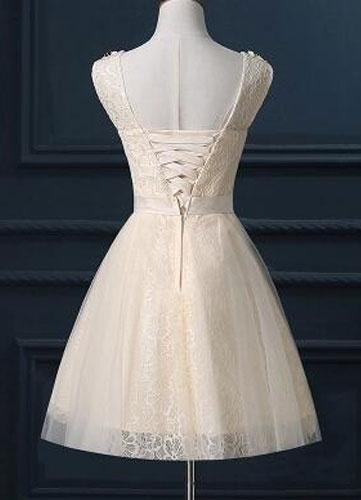 Milanoo Illusion Neckline A-Line Bridesmaid Dress