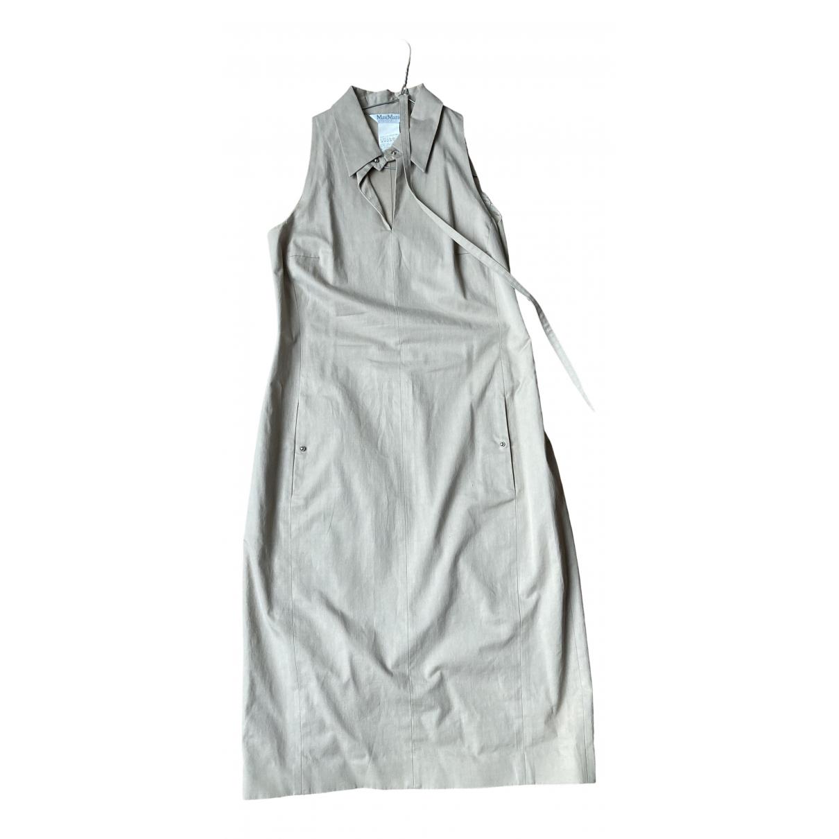 Max Mara - Robe   pour femme en coton - beige