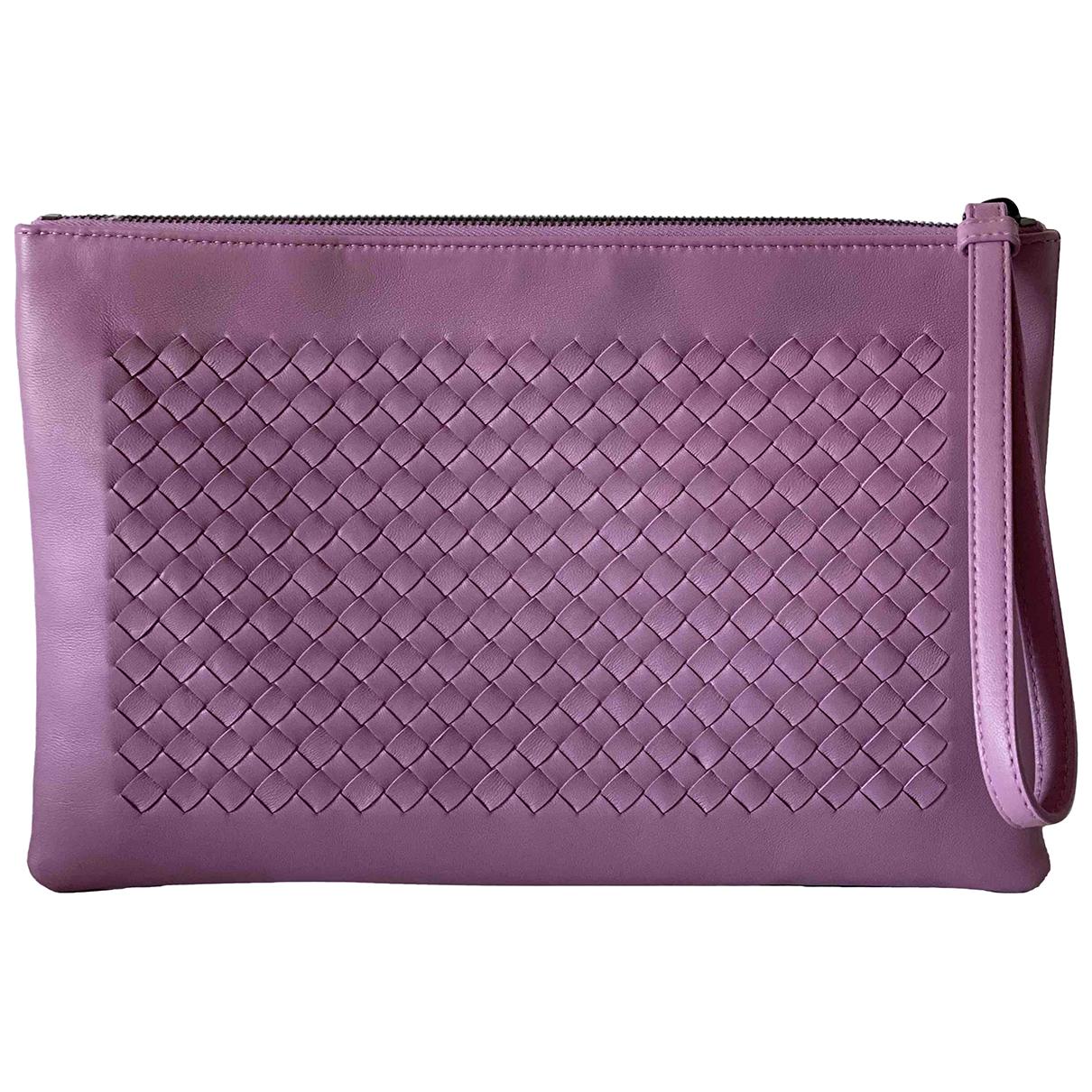 Bottega Veneta N Purple Leather Clutch bag for Women N