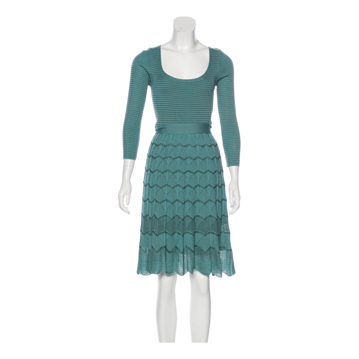 M Missoni \N Kleid in  Tuerkis Wolle