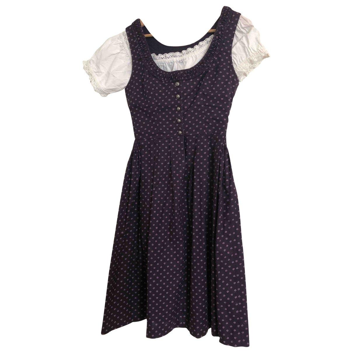Non Signé / Unsigned \N Purple Cotton dress for Women 36 FR