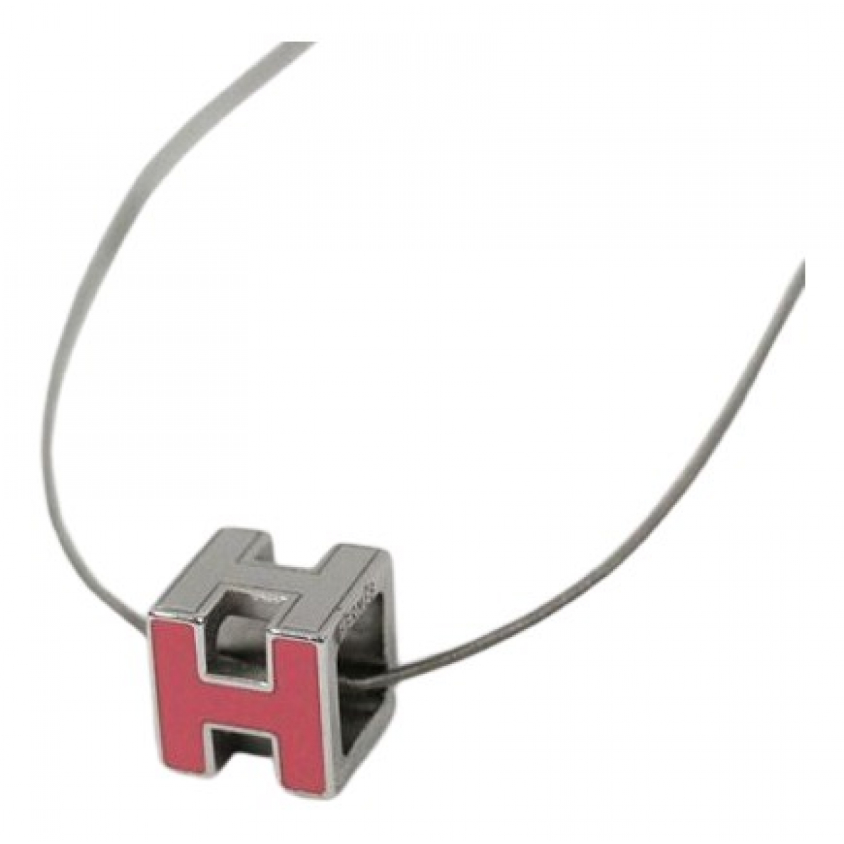 Hermès Cage dH Red Silver necklace for Women N