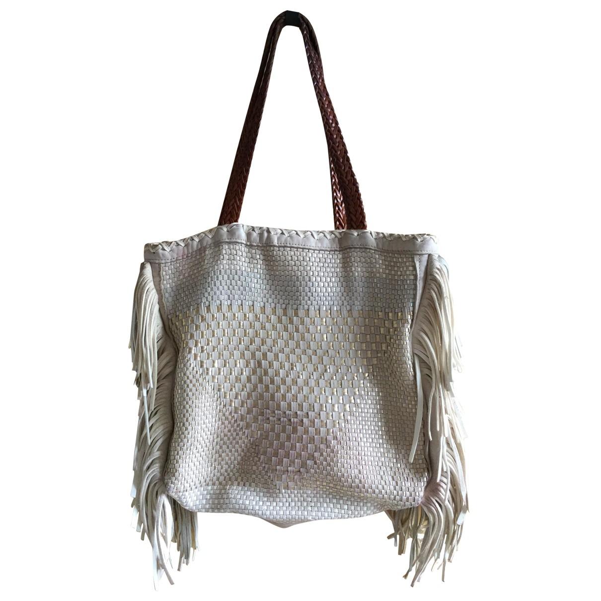 En Shalla \N Handtasche in  Ecru Leder