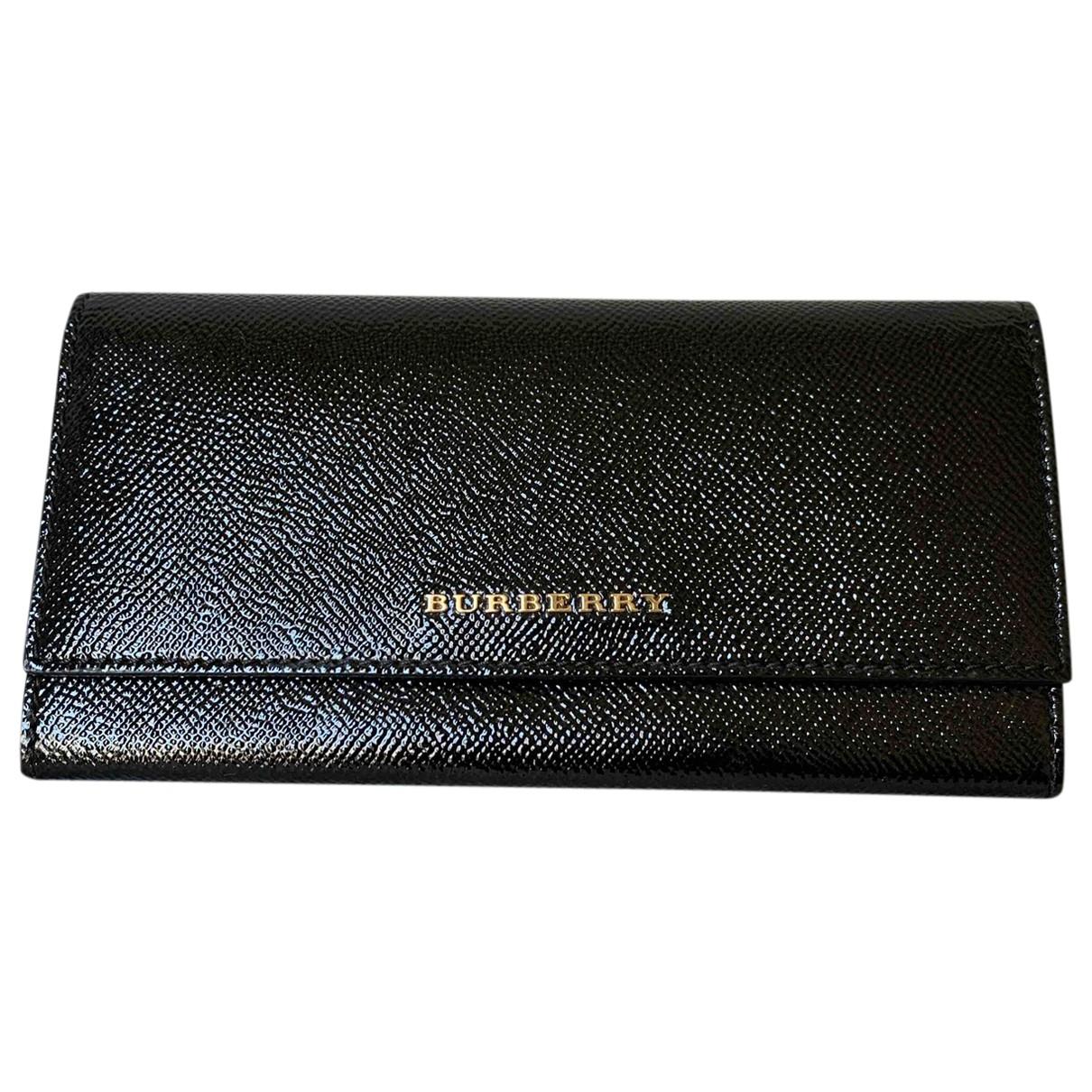 Burberry \N Black Leather wallet for Women \N