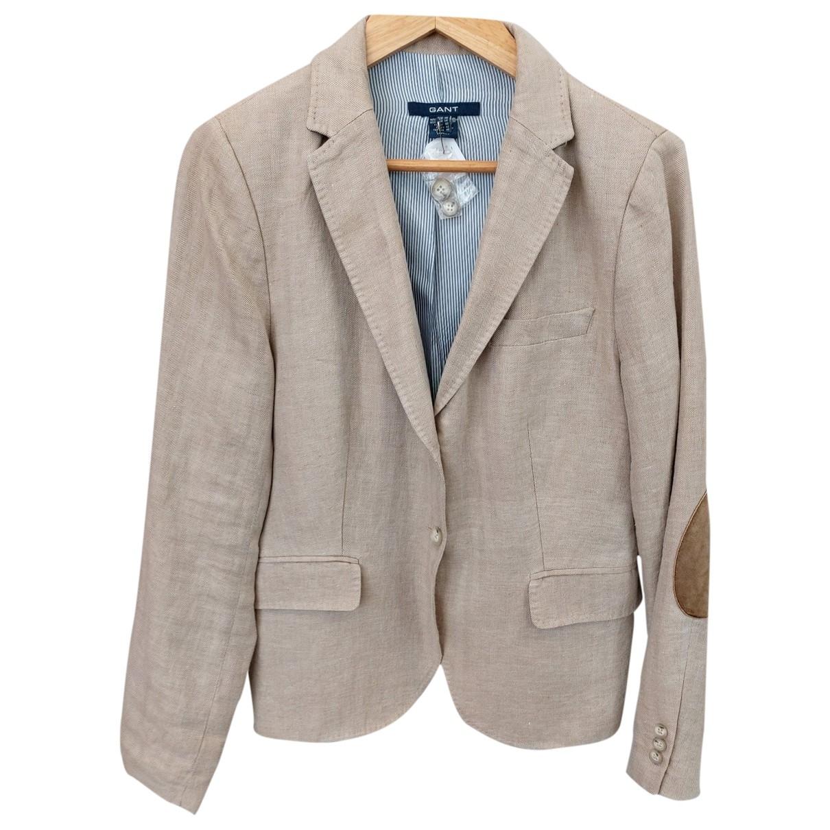 Gant \N Beige Linen jacket for Women 42 FR