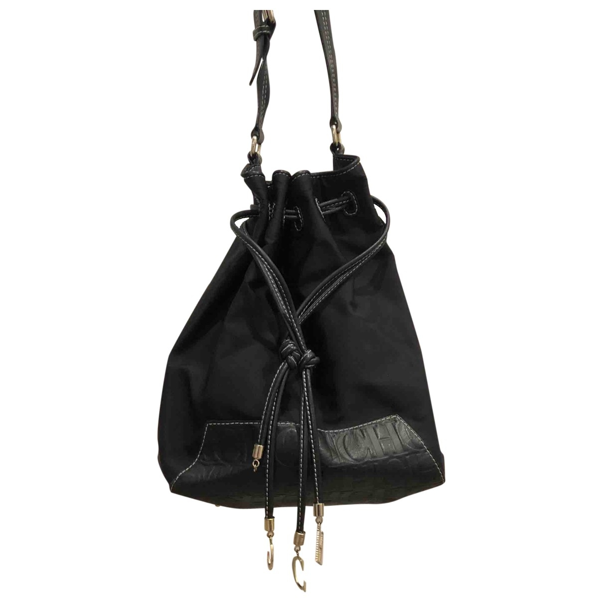 Carolina Herrera \N Handtasche in  Schwarz Leinen