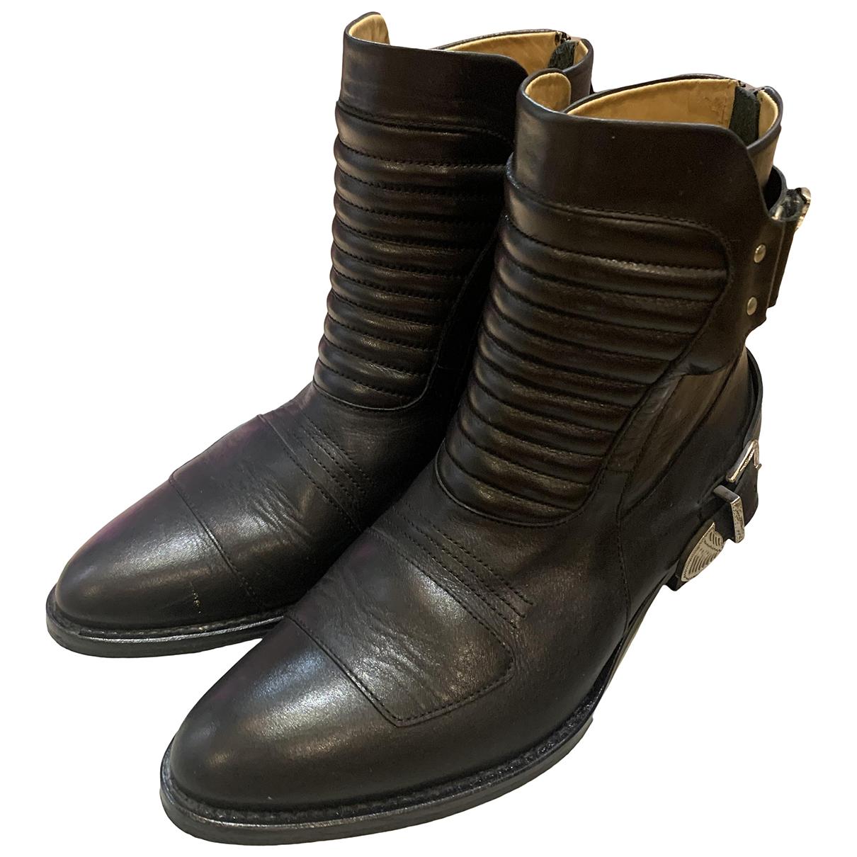 Toga Pulla - Bottes   pour femme en cuir - noir