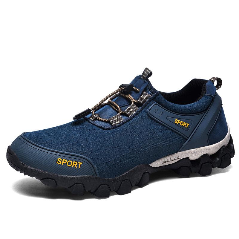 Men Outdoor Waterproof Cloth Slip Resistant Casual Hiking Sneakers