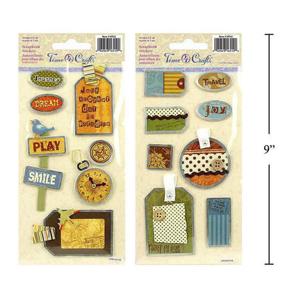 Travel Self- Adhesive Handmade Stickers for Crafts & Arts, Random Style - Time 4 Crafts