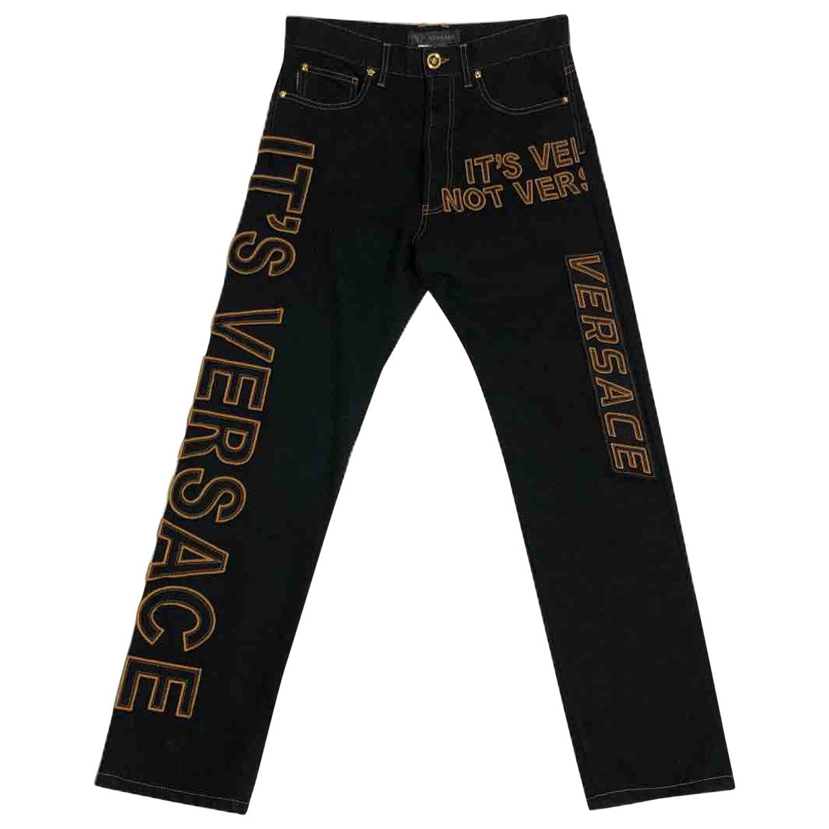 Versace \N Black Cotton Trousers for Men 32 UK - US