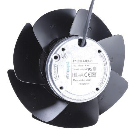 ebm-papst , 230 V ac, AC Axial Fan, 138.3 x 56.9mm, 340 m³/h, 390 m³/h, 45W, IP20