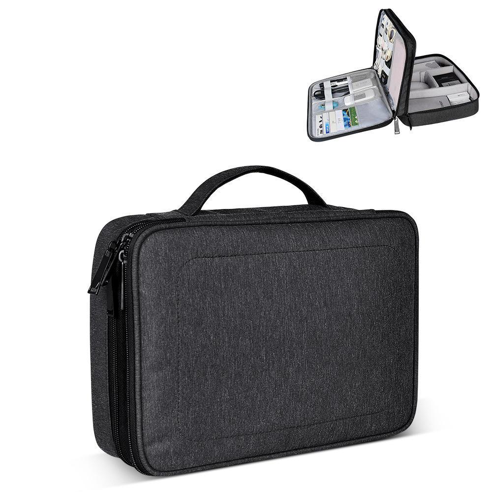 SM02 Nylon Waterproof Portable Multi-functional Laptop Storage Bag Electronic Accessories Travel Organizer Bag Data Cabl