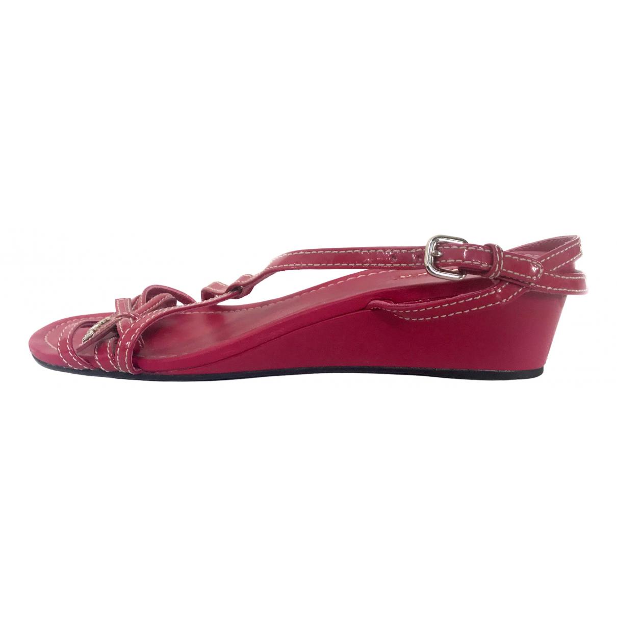 Prada \N Pink Patent leather Sandals for Women 38.5 EU