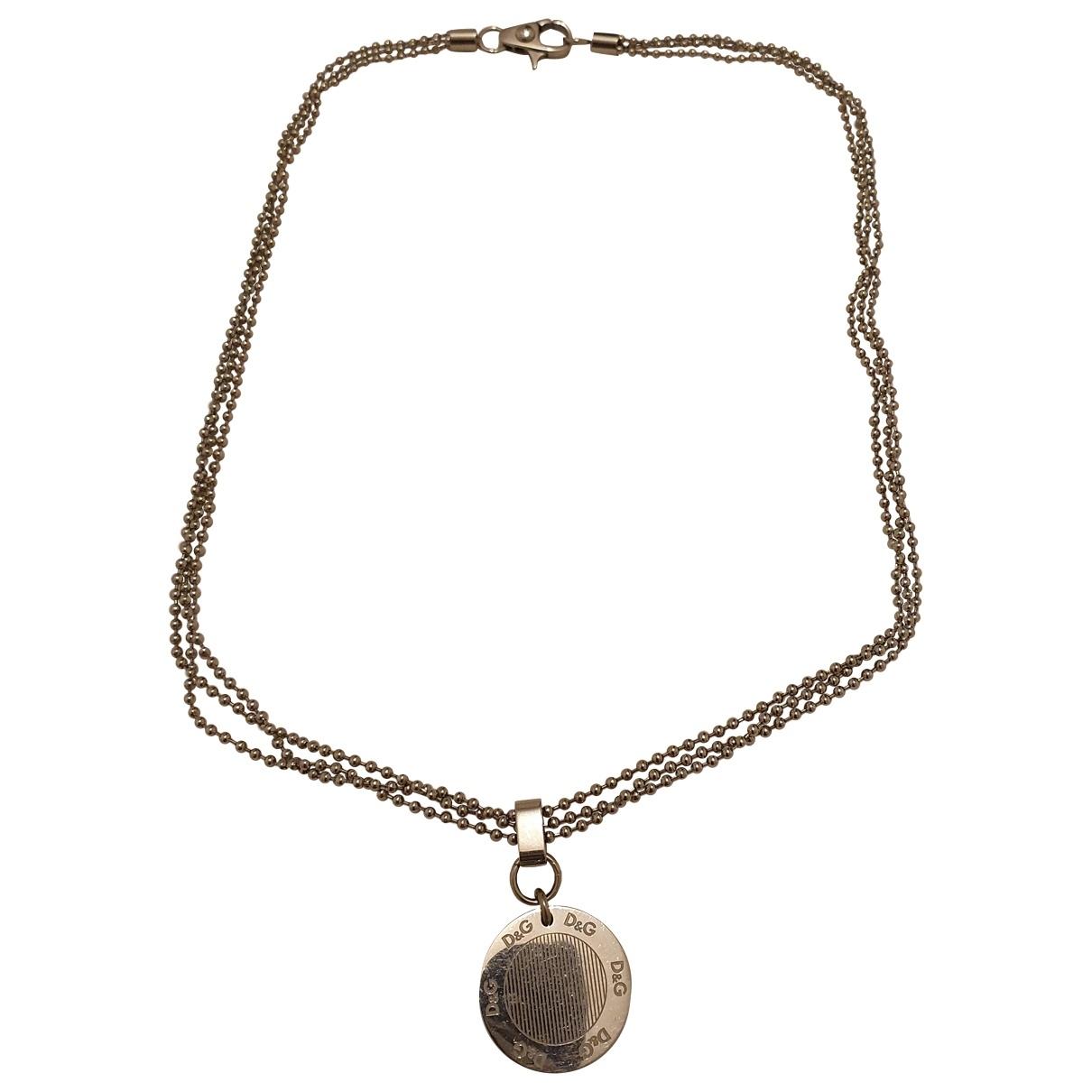 D&g - Collier   pour femme en metal - argente
