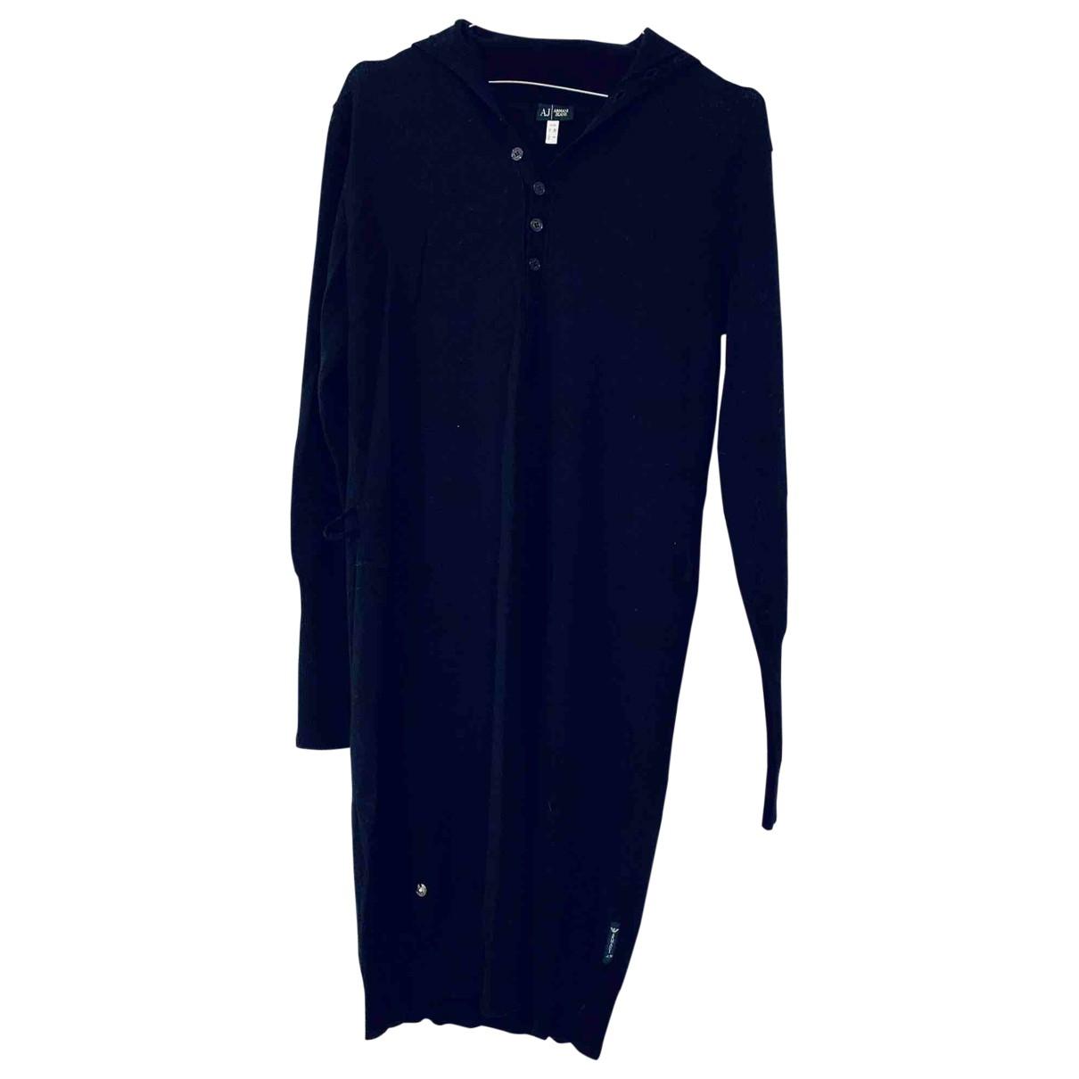 Armani Jeans \N Kleid in  Marine Wolle