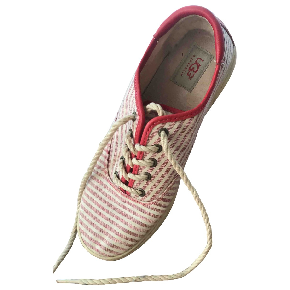 Ugg \N Red Cloth Trainers for Women 40 EU