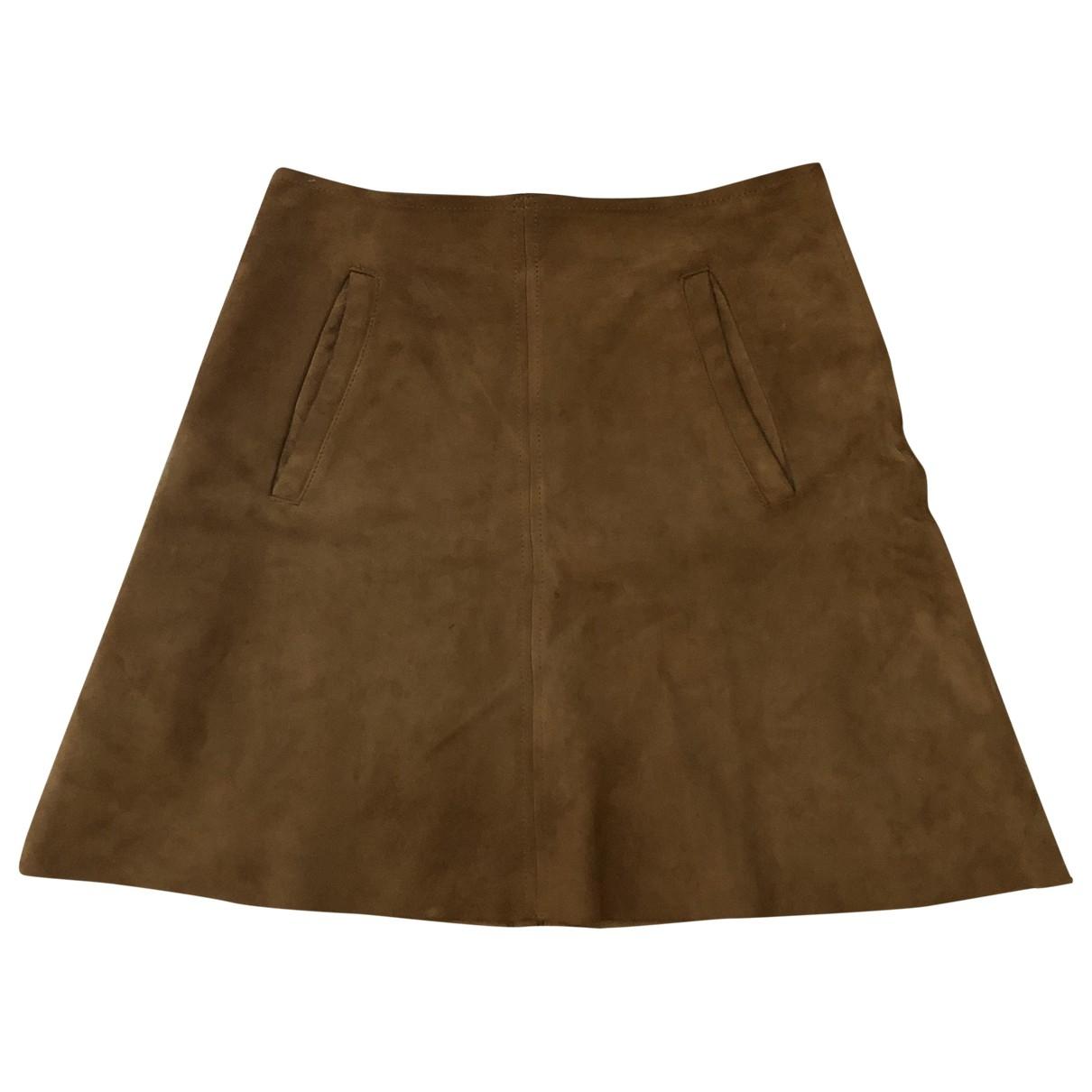 Wood Wood - Jupe   pour femme en cuir - marron